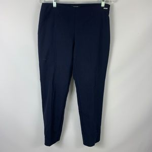 Tahari Sz 8 Navy Slim Pants Career